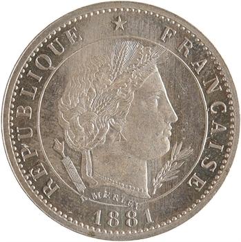 IIIe République, essai de 5 centimes Merley, 1881 Paris