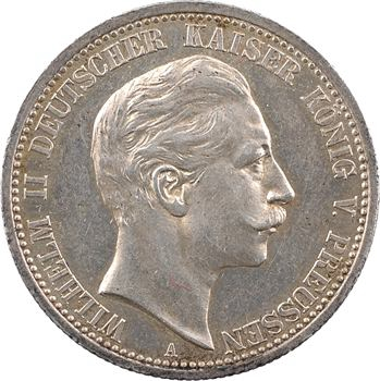 Allemagne, Prusse (royaume de), Guillaume II, 2 mark, 1905 Berlin