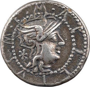 Acilia, denier, Rome, 130 av. J.-C.