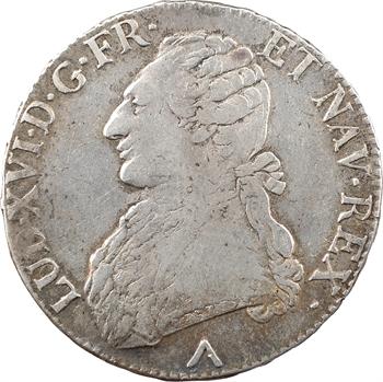 Louis XVI, écu aux branches d'olivier, 1776 Lille