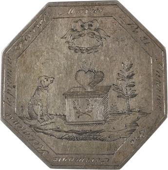 Louis XVIII, médaille de mariage en taille directe, 1820