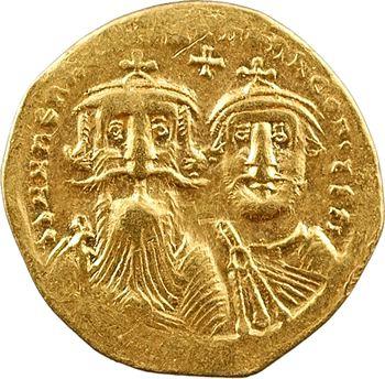 Héraclius et Héraclius Constantin, solidus, Constantinople, 2e officine, 629-632