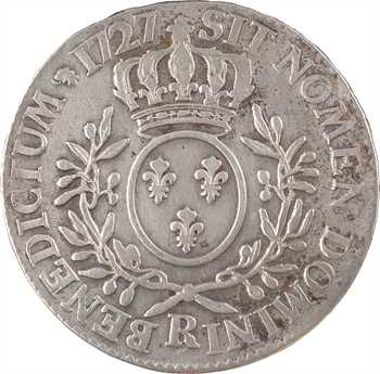 Louis XV, écu aux branches d'olivier, 1727 Orléans