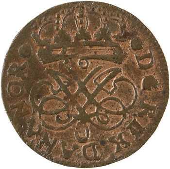 Danemark, Frédéric IV, 2 skilling, 1715 CW