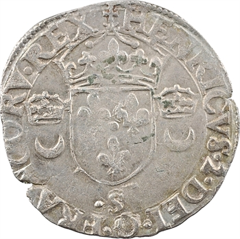 Henri II, douzain aux croissants, (novembre-décembre) 1550 Troyes