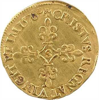 Charles IX, écu d'or au soleil, 1570 Troyes