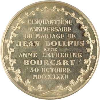 IIIe République, 50e anniversaire de mariage de Jean Dollfus, 1872 Paris