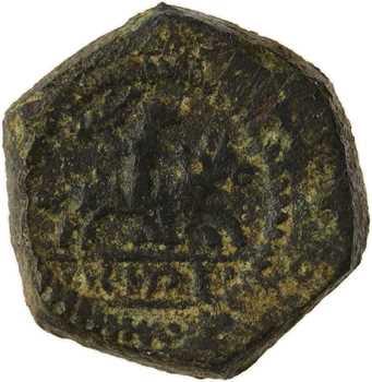 Pays Bas, Philippe le Bon ou Philippe le Beau, poids monétaire du cavalier des Flandres d'or, XVe s.