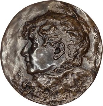 Prévot-Vallot : Sarah Bernhardt, grande fonte uniface, c.1896