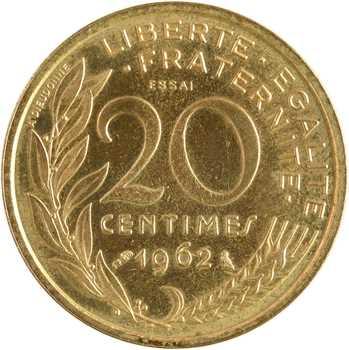 Ve République, essai de 20 centimes Lagriffoul, 1962 Paris