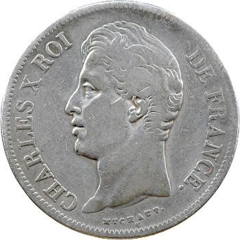 Charles X, 5 francs 2e type, 1828 Bordeaux
