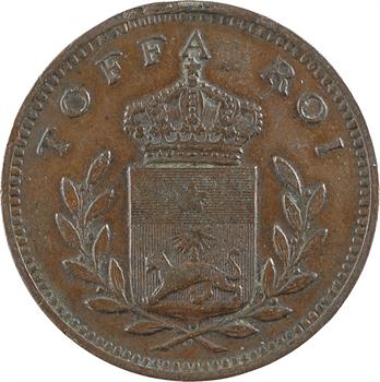 Dahomey, Toffa roi de Porto Novo, module de 10 centimes, s.d. (1892-1893 ?)