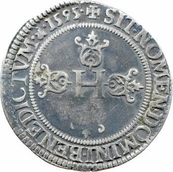 Henri IV, demi-franc, 2e type de Saint-Lô, 1595