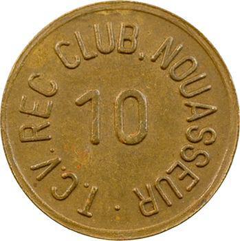 Maroc, Armée des États-Unis, 10 [cents], T.C.V. REC Club à Nouasseur, s.d