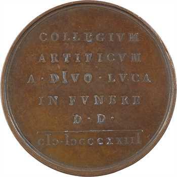 Italie, hommage à Antonio Canova, par Girometti, 1823 Rome