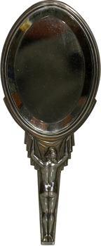 Bazor (L.) : Femme de dos, miroir en argent, s.d. Paris