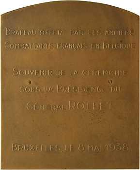 Belgique, les anciens légionnaires français en Belgique (remise de drapeau), 1938