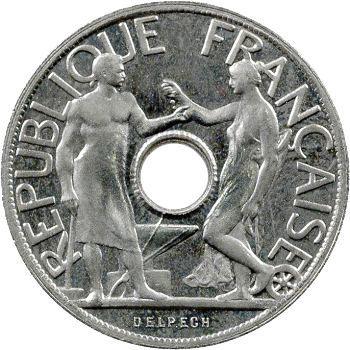 IIIe République, essai de 25 centimes par Delpech, grand module, 1914 Paris