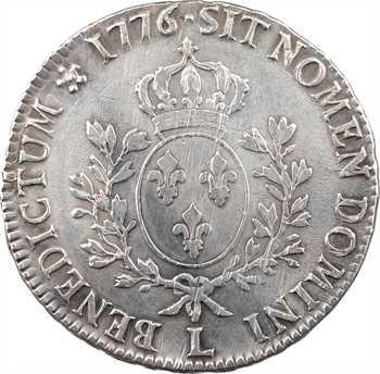 Louis XVI, écu aux branches d'olivier, 1776 Bayonne