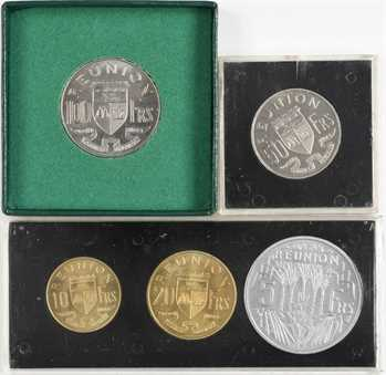 Réunion (île de la), série de 5 essais, 1955-1964 Paris