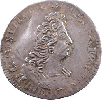 Louis XIV, douzième d'écu aux insignes, Paris