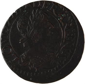 Louis XIII, double tournois 12e type, 1638 Tours