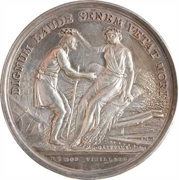 Louis XVI, prix de la bonne fille et du bon vieillard, par Gatteaux, s.d. Paris