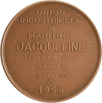 Union Industrielle et Maritime, le lancement du Jacqueline, 1958 Paris