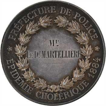 IIIe République, épidémie de choléra (au Docteur Martellière), par Vauthier-Galle, 1884 Paris
