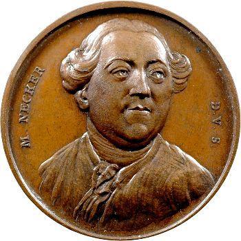 Révolution française, Necker, médaille par Duvivier, 1789 Paris