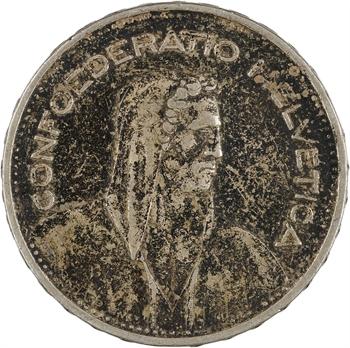 Suisse, Confédération Helvétique, 5 francs, 1932 Berne