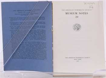 American Numismatics Society, Museum Notes (14 numéros), New York 1975