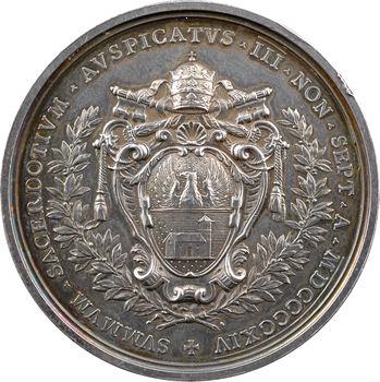 Vatican, Benoît XV, médaille annuelle, armoiries du pape Benoît XV, 1914 Rome
