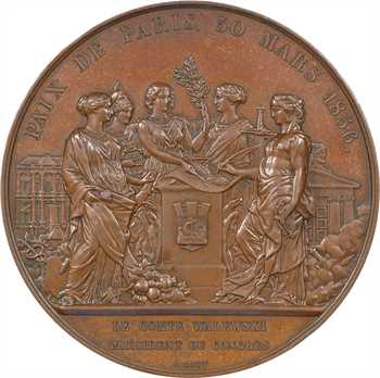 Second Empire, Traité de Paris, le comte Walewski président du Congrès, 1856