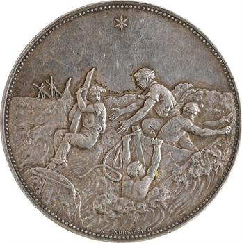 IIIe République, Société des sauvetages et naufragés, par Barre, 1886 Paris