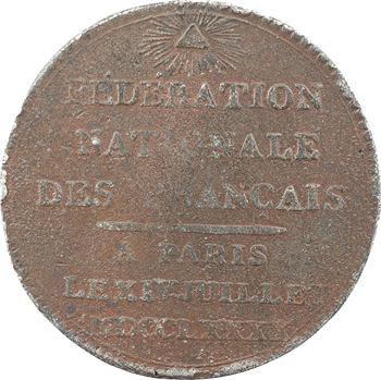 Constitution, cérémonie de la Fédération nationale des Français, 1790 Paris