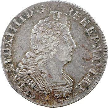 Louis XIV, quart d'écu aux huit L, 2e type, 1704 Paris