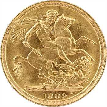 Australie, Victoria, souverain, 1889 Sidney