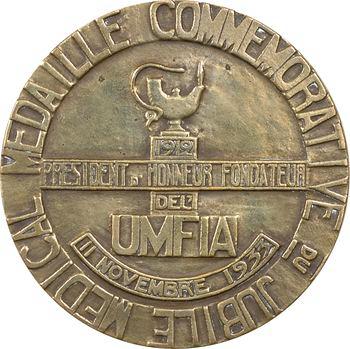 Médecine, IIIe République, Clémenceau et le jubilé médical de l'UMFIA, par Villandre, 1933 Paris (Canale)