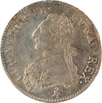 Louis XVI, écu aux branches d'olivier, 1783, 2d semestre, Paris