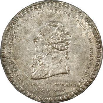 Convention, le général de Beauharnais, cliché uniface, 1793