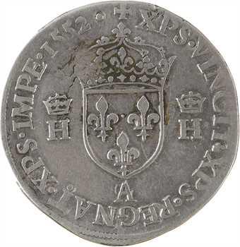 Henri II, teston à la tête nue 1er type, 1552 Paris