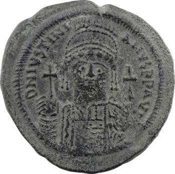 Justinien Ier, follis, Constantinople, 4e officine, An XIII = 539-540