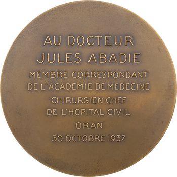 Algérie, Dr J. Abadie, chirurgien chef de l'hôpital d'Oran, 1937