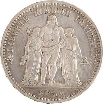 IIIe République, 5 francs Hercule, 1871 Paris