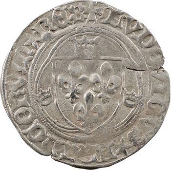 Louis XI, blanc à la couronne, 2e émission, Châlons-en-Champagne