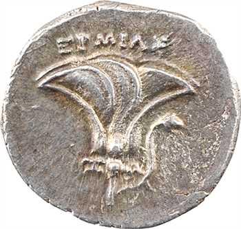 Thessalie, drachme pseudo-rhodienne, magistrat Ermias, époque de Persée, c.175-170 av. J.-C.