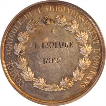 Second Empire, comice agricole d'Orléans, 1869 Paris, PCGS SP63