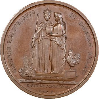 Retour des cendres, arrivée à Cherbourg, par Galle, c.1840