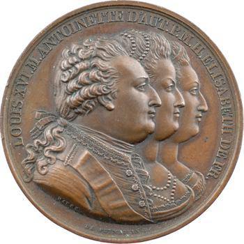 Convention, la mort de la famille royale, par Barre, 1794 (Restauration) Paris